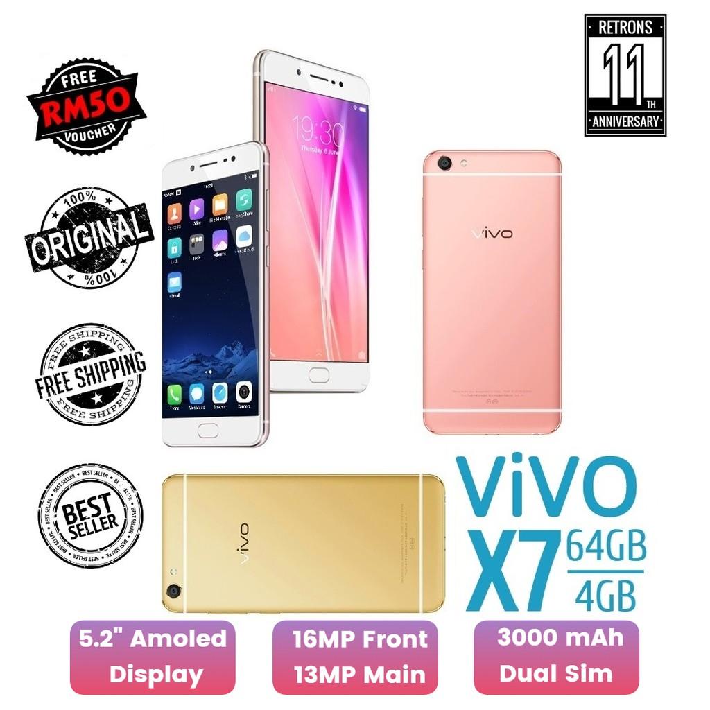 "🇲🇾 Ori Vivo X7 [64GB + 4GB RAM] 5.2"" Inch Amoled Display [1 Month Warranty] FREE Screen Protector"