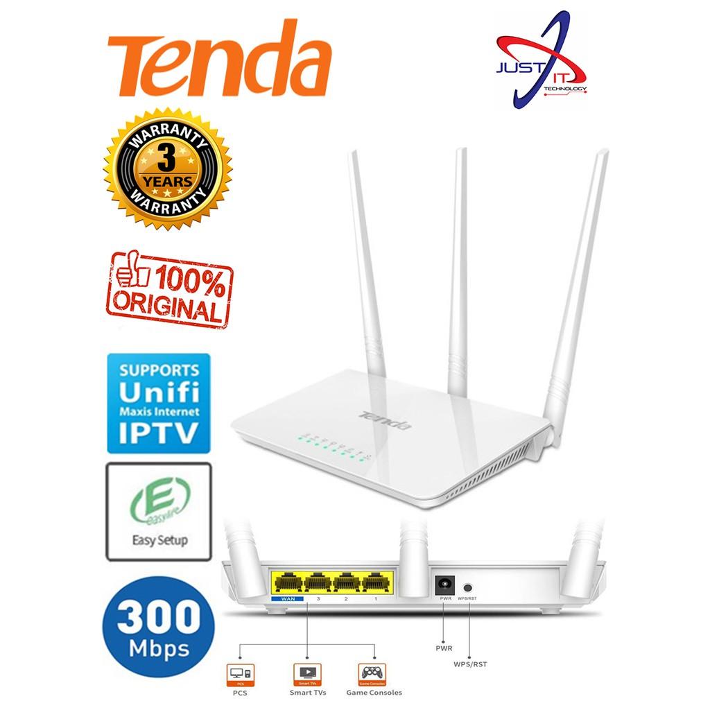 TENDA F3 300MBPS WIRELESS EASY SETUP ROUTER