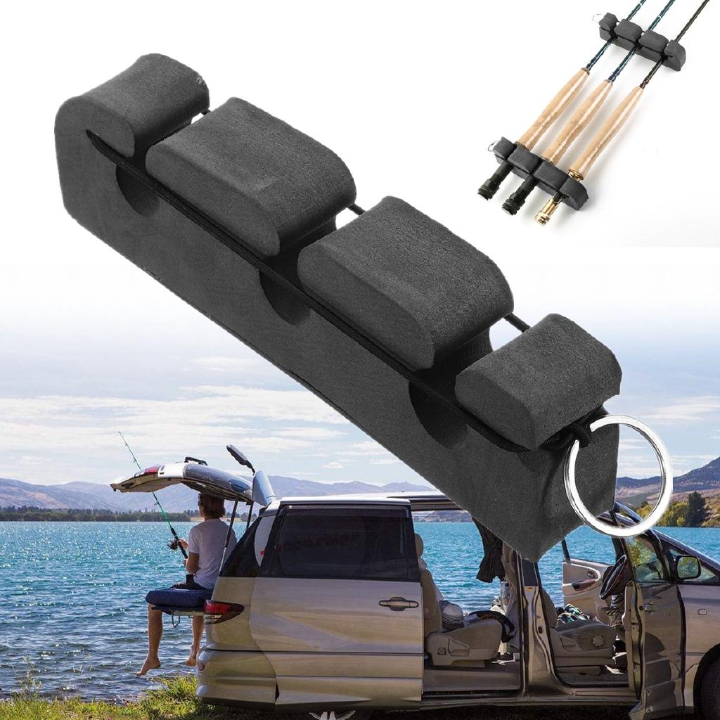 Fly Rod Holder MAGNETIC CAR ROD HOLDER Fishing Pole Stand Rack Holder Tackle