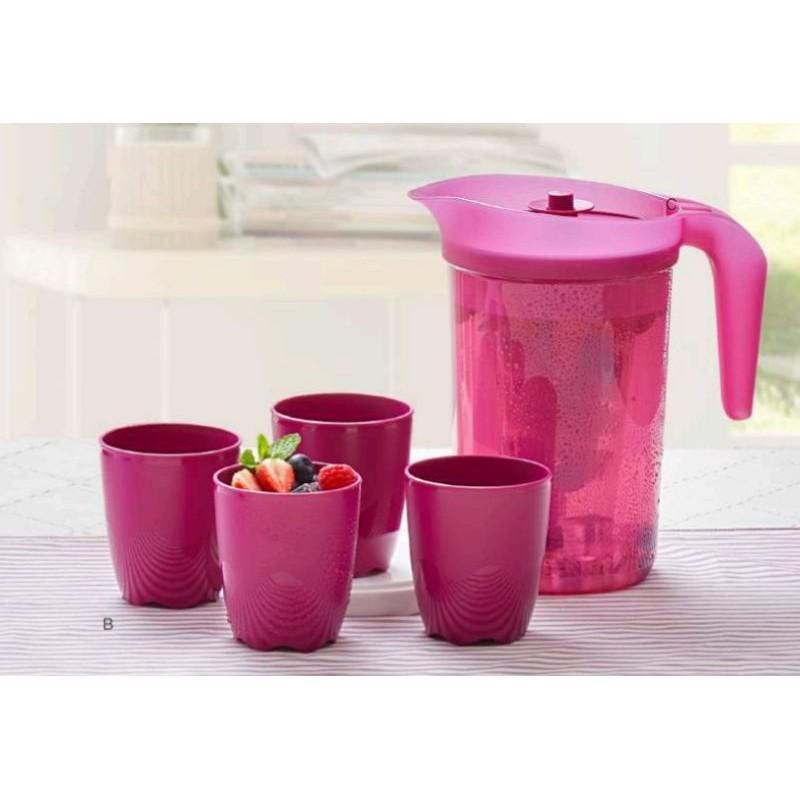 Tupperware Berries jug set/2L jug,tapis,275ml mug(4)