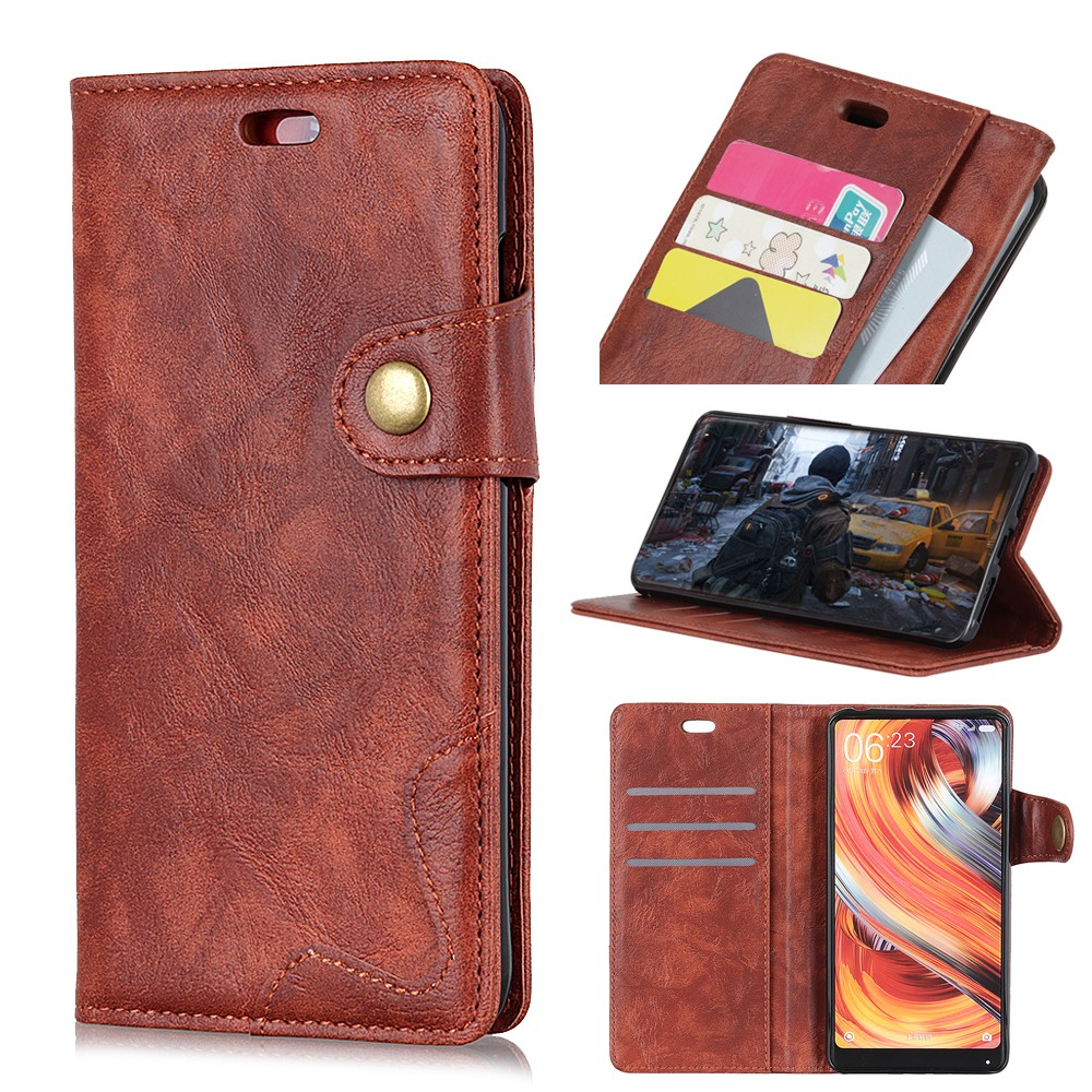 93ba3d465d Crazy Horse Texture Wallet Leather Stand Mobile Phone Casing with Magnet  for Asus Zenfone Max (M2) ZB633KL - Brown   Shopee Malaysia