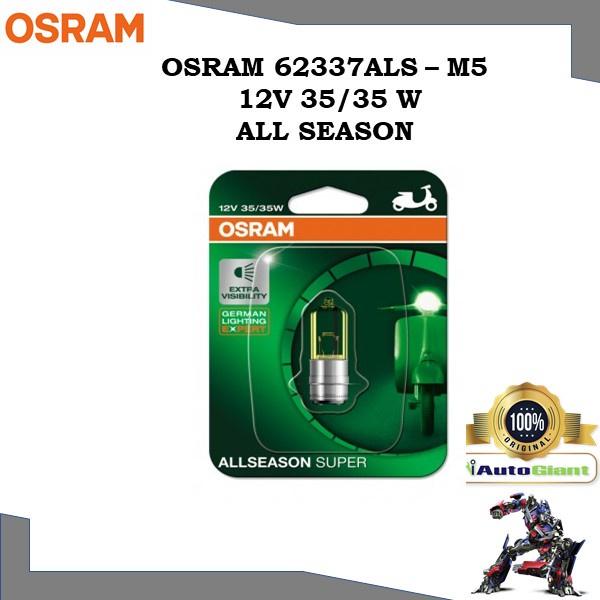 OSRAM 62337ALS - M5 12V 35/35W ALL SEASON LAMPU MOTOR DEPAN