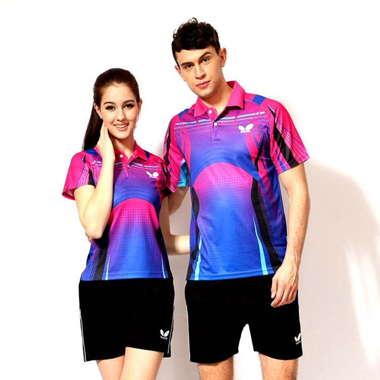 Butterfly Table Tennis Shirt Pingpong Sports Jersey Team Shirts Breathable