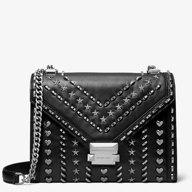 2b5478f03d5e MICHAEL KORS X YANG MI Whitney Large Studded Leather Convertible Shoulder  Bag