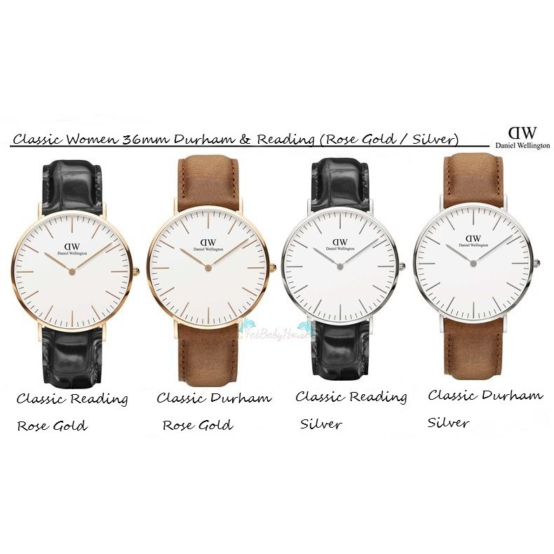 cd8c20a920ef  Ready Stock  Authentic Daniel Wellington Classic Women 36mm Durham    Reading
