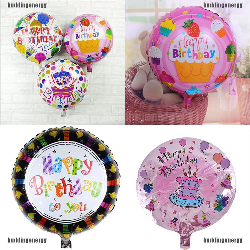 2Pcs Happy Birthday Aluminum Foil Balloons Birthday Wedding Party Decoration KI