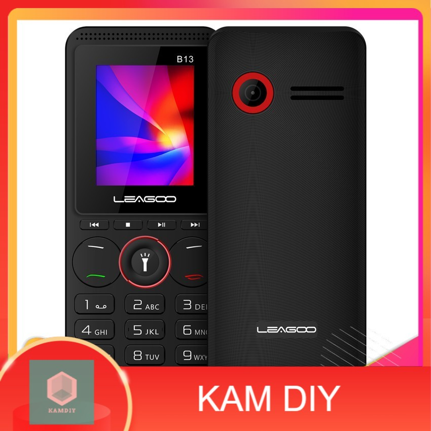 Bigger Font, Large Speaker, SD Card Slot, Music Button, Touch Light, Dual Sim, Wireless FM Radio Official Leagoo B13