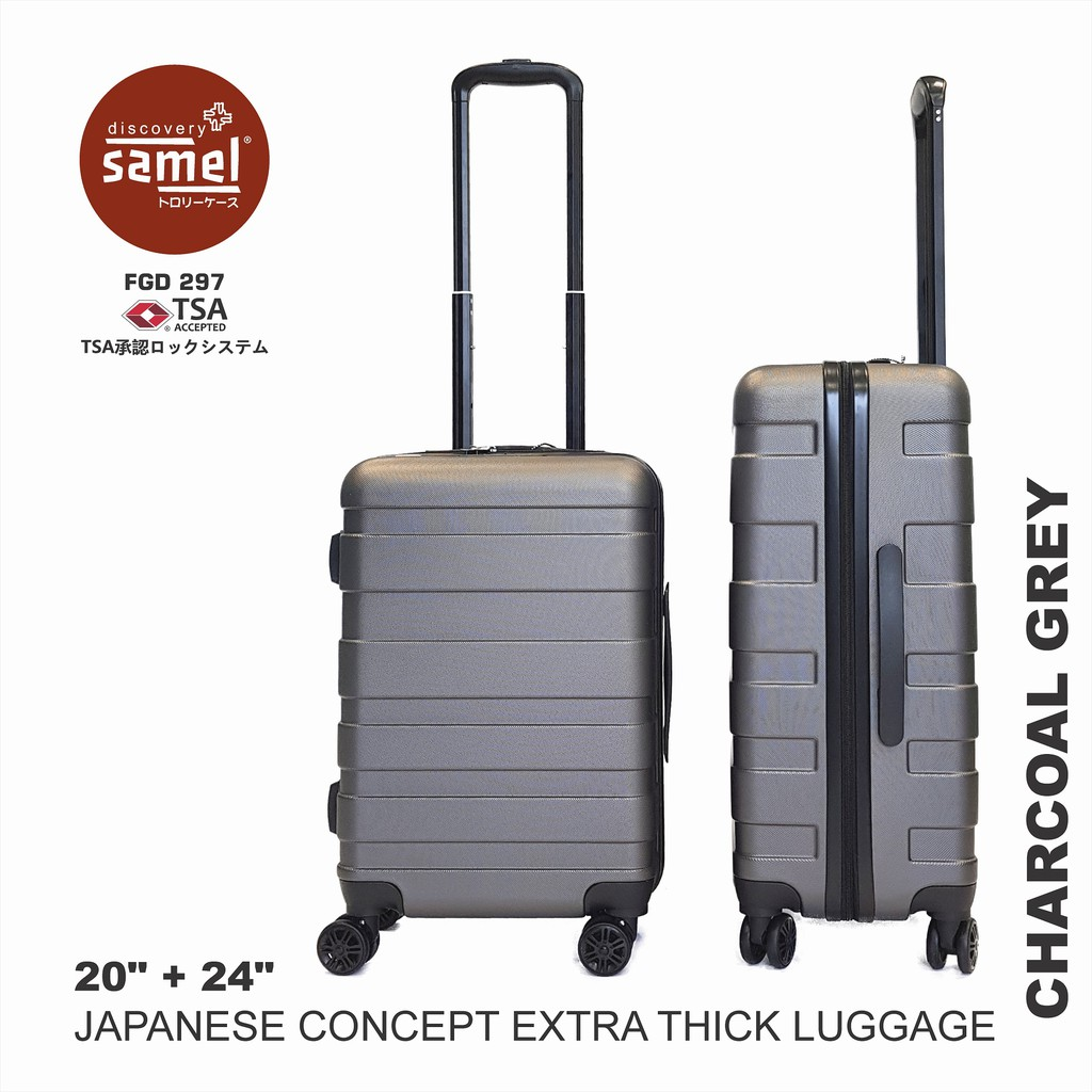 2 IN 1 SET FGD 297 JAPANESE CONCEPT EXTRA THICK LUGGAGE 20'' + 24''