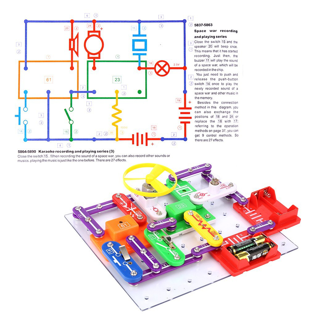 Excelvan Snap Circuits Electronics Kit Educational Toy Shopee Malaysia Sound Electronic Science Toys Planet