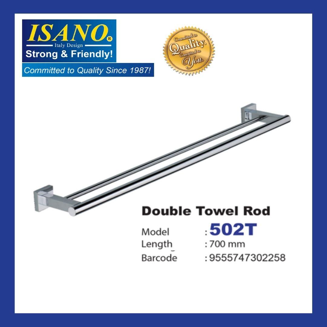 ISANO Home Usage Double Towel Rod/ Batang Tuala Berganda - 502T