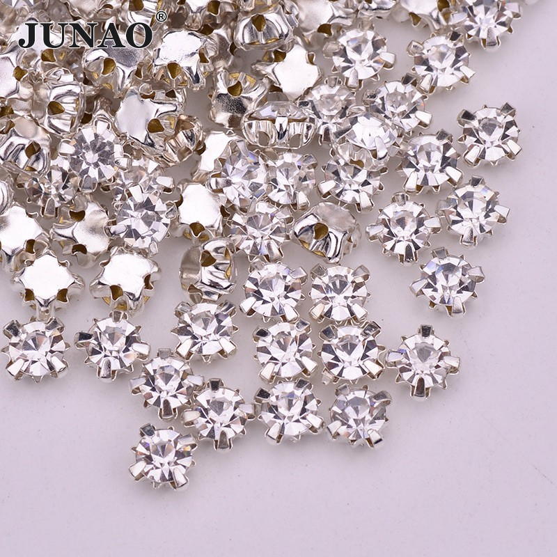 10pcs Crown Clear Glass Rhinestone Patches Hotfix Motif Clothes Crystal  Applique  4b2b75b975d2