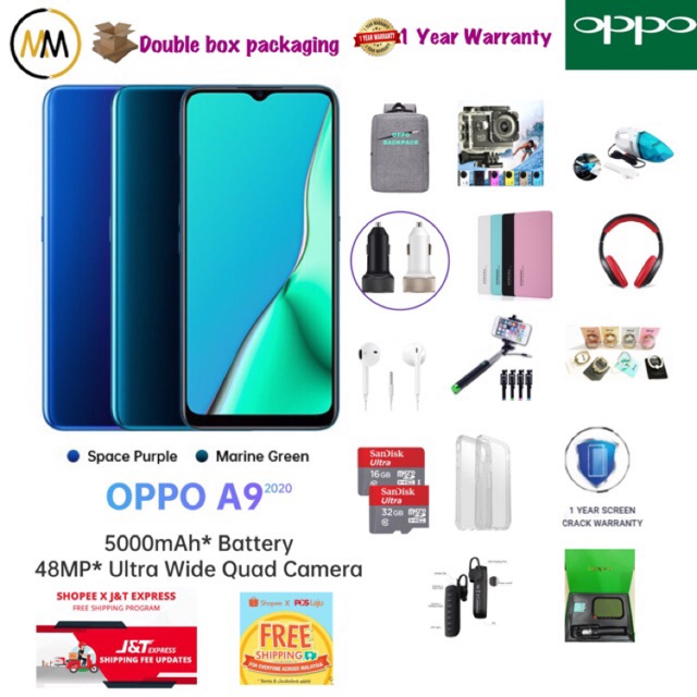 10/10 ONLY!!!Hot!!Hot!!Hot!!NEW MODEL‼️OPPO A9 (8+128GB) ORIGINAL MALAYSIA SET