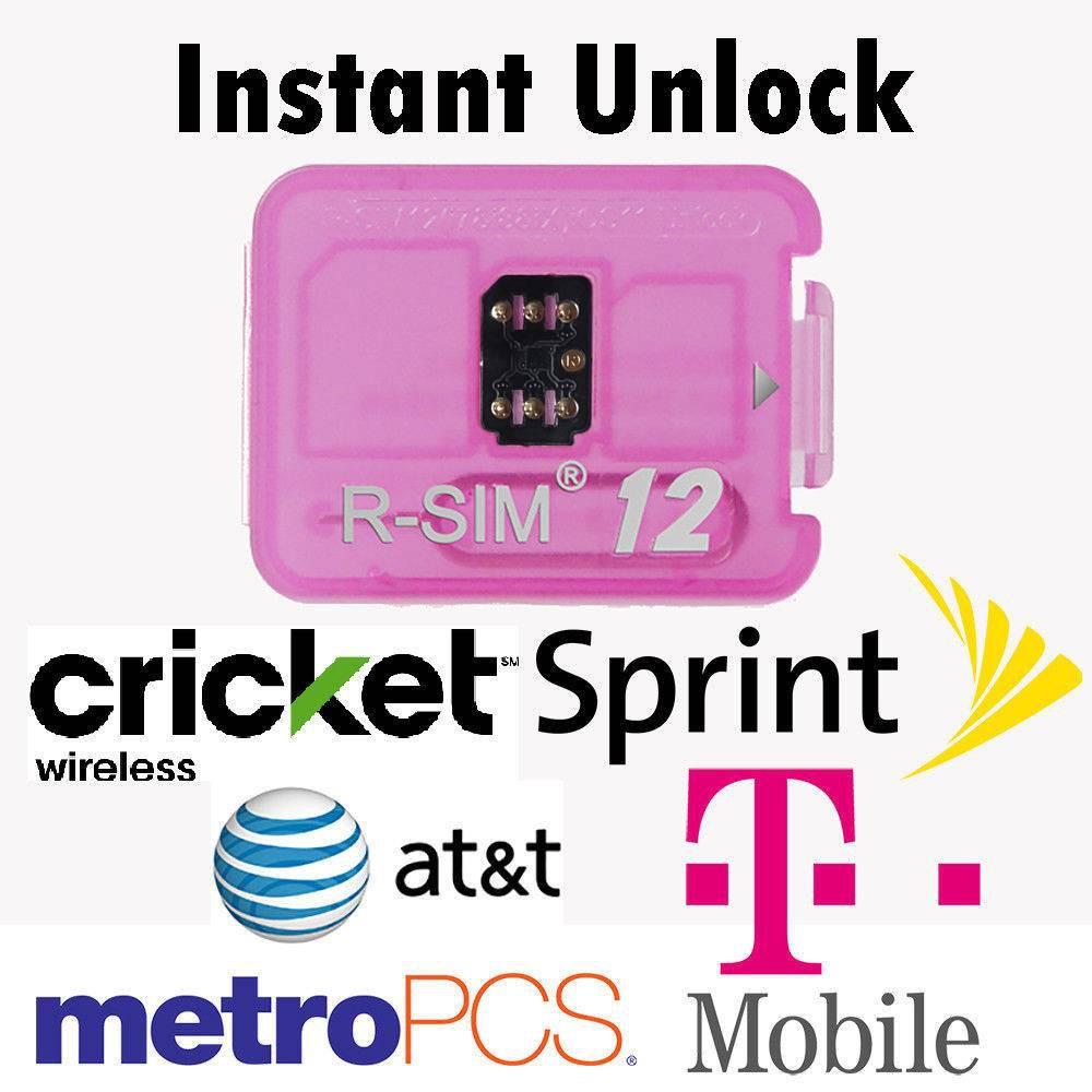 RSIM 12+ New 2018 R-SIM Nano Unlock Card fits iPhone X/8/7/6/6s/5S/ 4G iOS  10 11