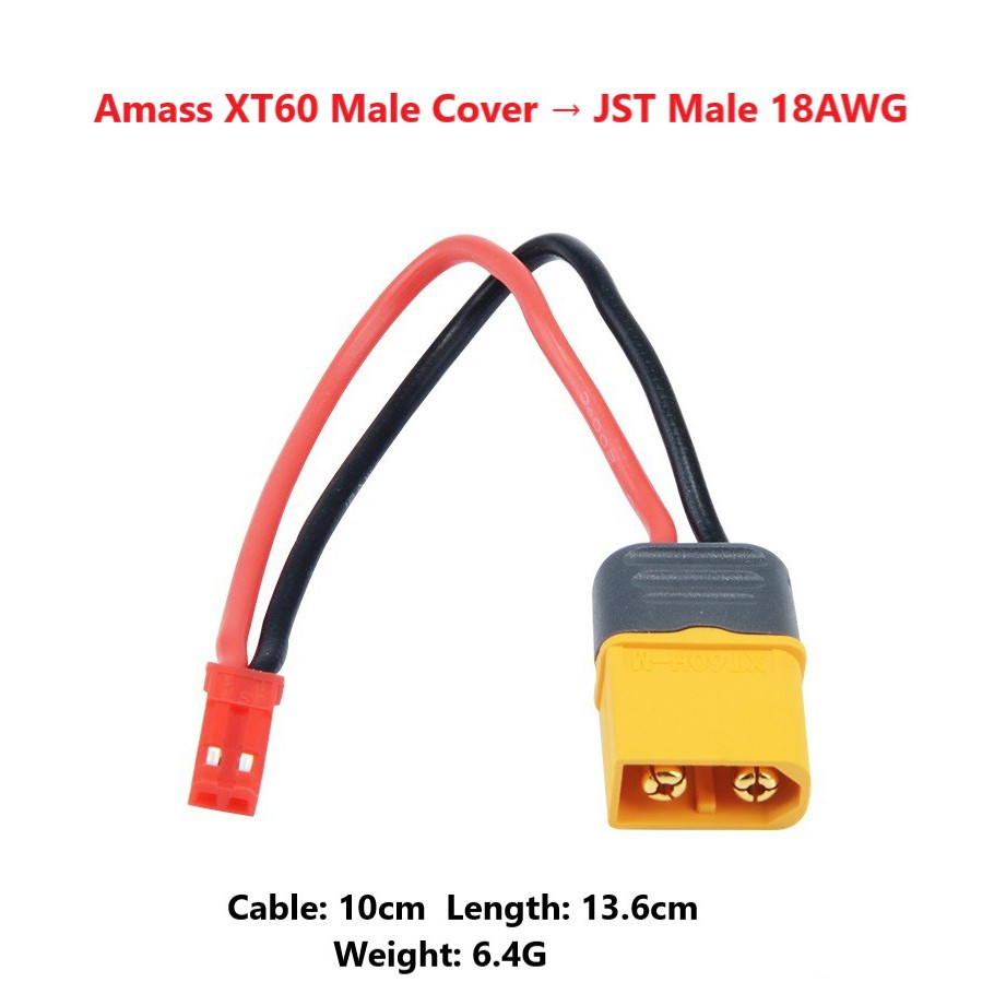 Tamiya parallel cable connector//adaptor//plug//lead for LiPo Battery RC 18 AWG