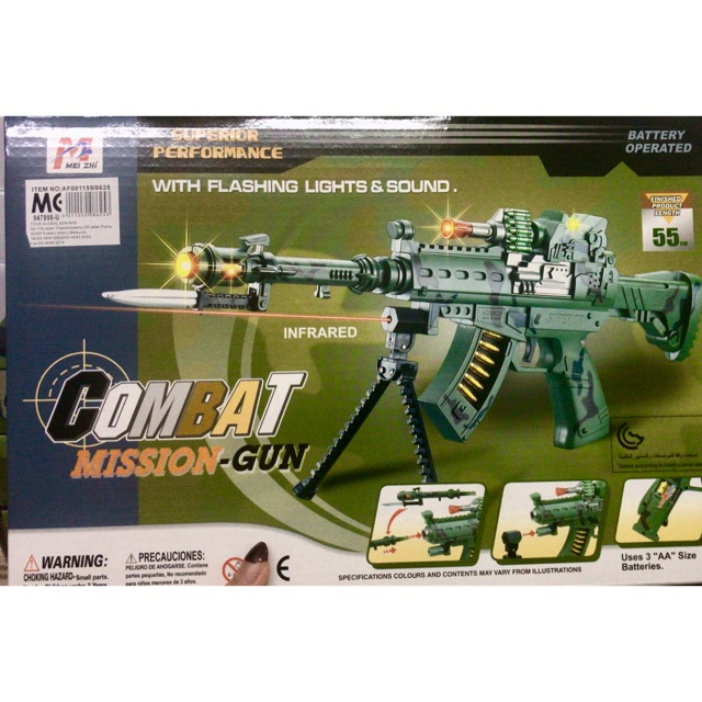 Gun Toys With Sounds And Lights Combat Mission Gun Toys Shopee Malaysia
