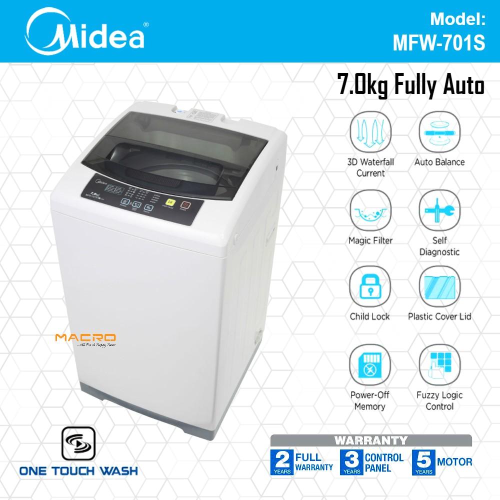 *FAST SHIP* Midea Malaysia 7kg Washing Machine Fully Auto Washer