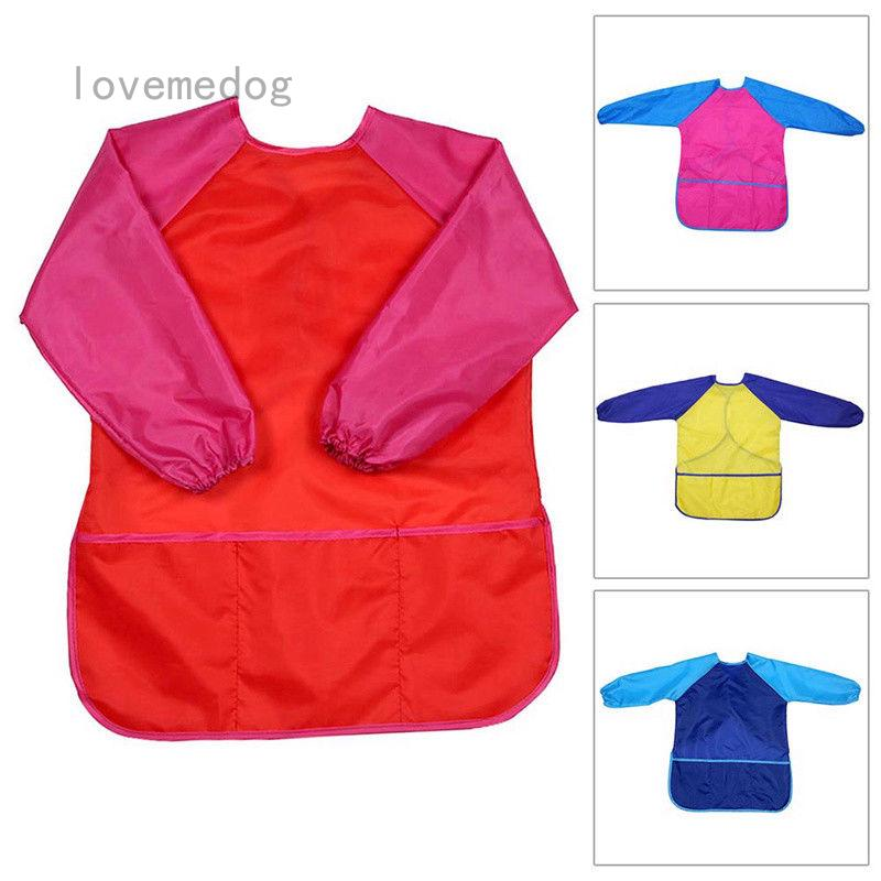 Kids Craft Apron Cooking Painting Waterproof Smock Pockets Hot Childs 1 Pcs