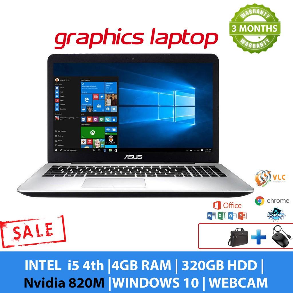 Asus F555L Graphics Laptop - i5 4th Gen, 4GB RAM , 320GB HDD, Nvidia 820M
