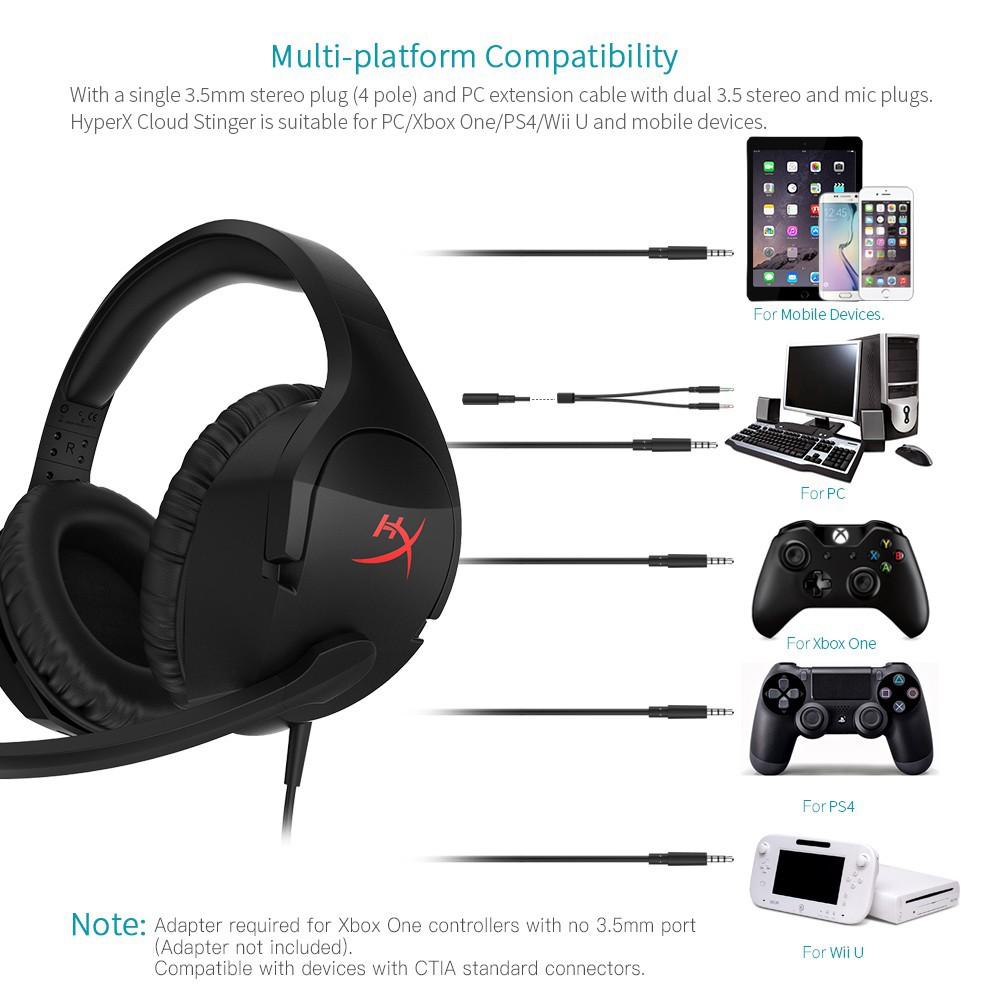 buy popular 750e8 f2647 Kingston HyperX Cloud Stinger Gaming Headphones Headset HX-HSCS-BK AS -  Original   Shopee Malaysia