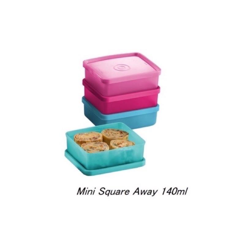 Tupperware Mini Square Away (4pcs) 140ml