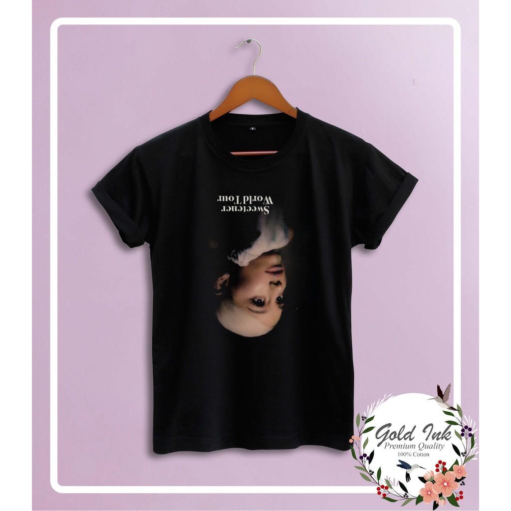 New Ariana Grande Sweetener World Tour 2019 Merchandise New Logo Men S T Shirt Christmas Gift Shopee Malaysia