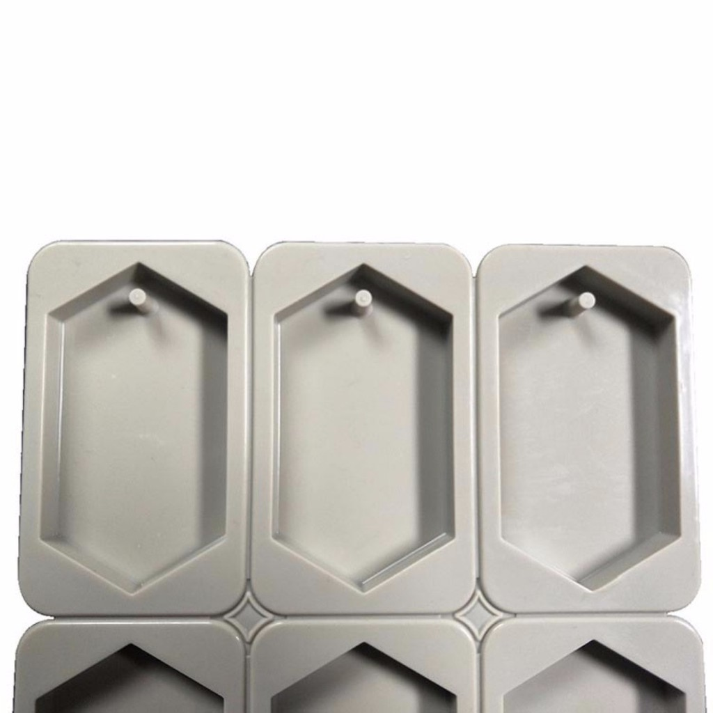 Cute Grey 6-Cavity Soap Wax Candle Plaster Crystal Epoxy Making Mold Supplies L