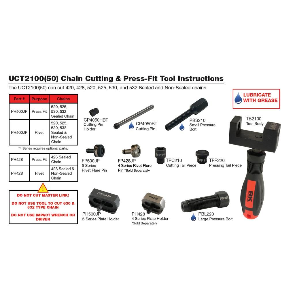 Heavy Duty Natural Drive Chain Master Link with Detacher Splitter Cutter Tool