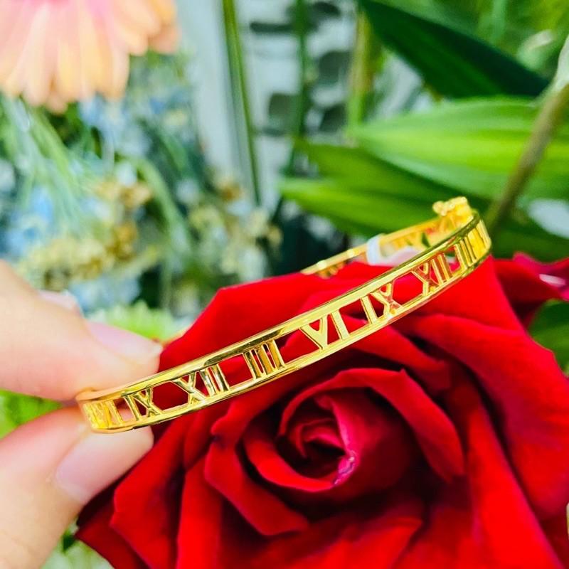 Gelang Emas Roman Full Gold/Roman Full Gold Bangle (Emas 916)