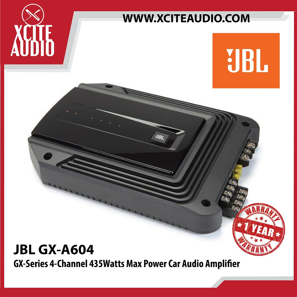 JBL GX-A604 GX-Series 4-Channel 435Watts Max Power Car Audio Amplifier