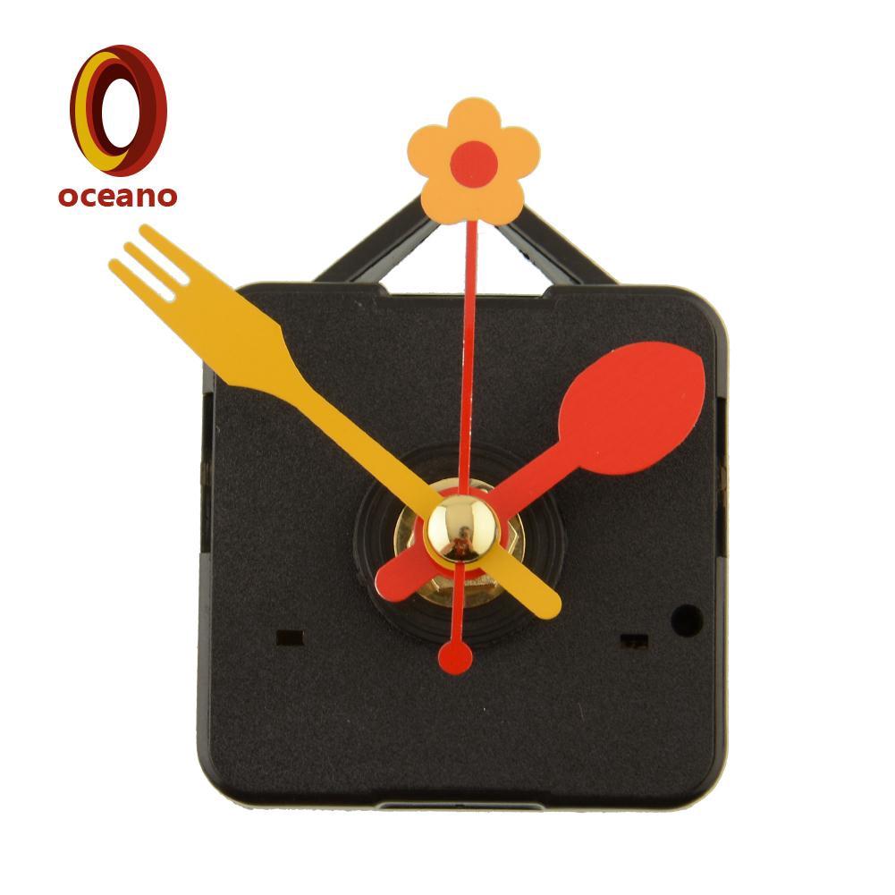 DIY Red Wall Clock Quartz Movement Mechanism Battery Operated Repair Part Kit HS