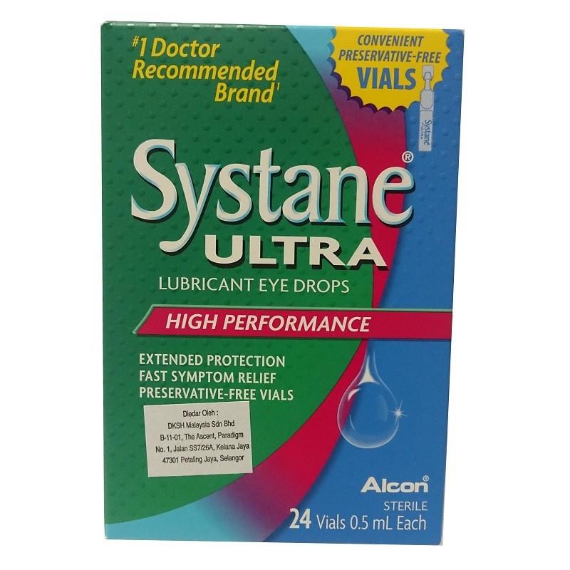 Alcon Systane Ultra Lubricant Eye Drops (24 Vials x 0.5ml ...