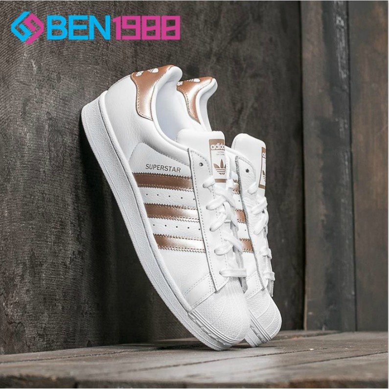 designer fashion 31766 94faf 2018 Adidas Superstar Shamrock Mirror Shell Head Casual Shoes White Shoes    Shopee Malaysia