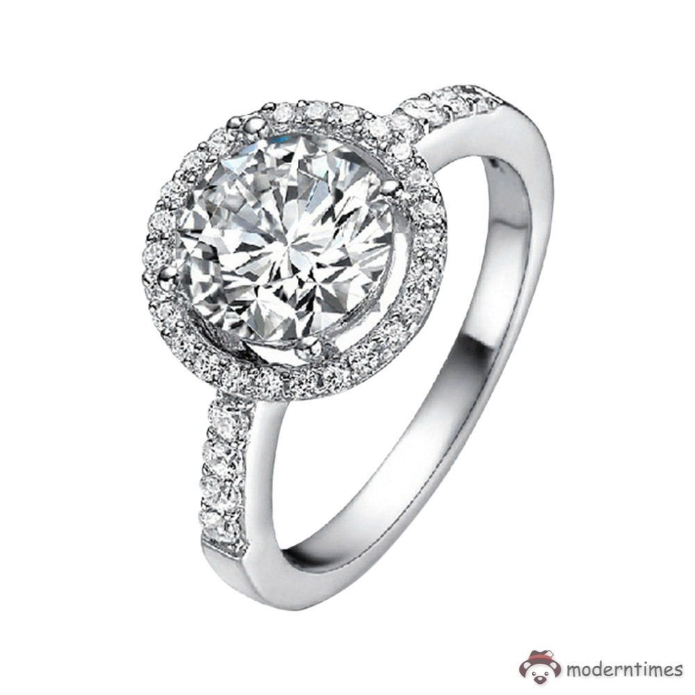 1a404047cd ✡MT✡ Hot Sale Women Zircon Flower Engagement Ring Alloy Finger Rings  Jewelry Gifts