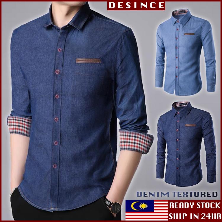 🇲🇾READY STOCK👔 Men England Business Shirt Formal Smart Casual Top Clothing Formal Office Baju Kemeja Lelaki MT 159