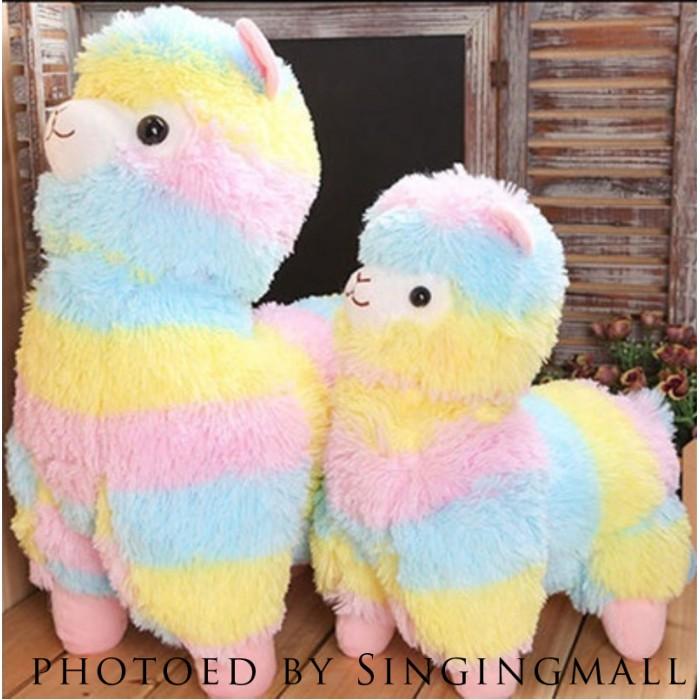 Alpacasso Arpakasso Amuse Rainbow Striped Llama Alpaca Stuffed Plush Doll 20/'/'