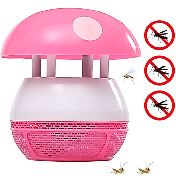 Electronic Mosquito Insect Buzz Killer Mushroom LED Lamp Light Reject Anti Pest Control Suction Repellent