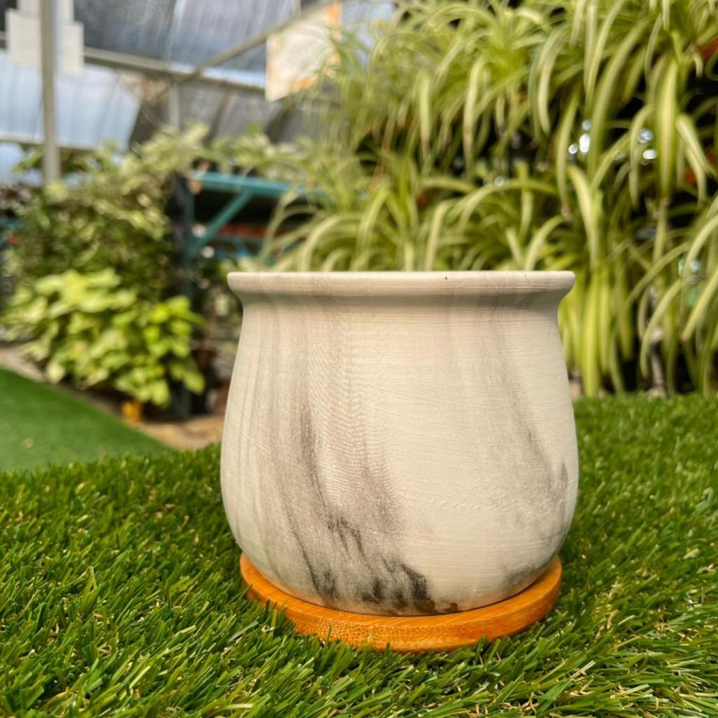 [IGL] Flower pot colourful marble series 10cm (H) x 9cm (W) ceramic pot  Round Pattern