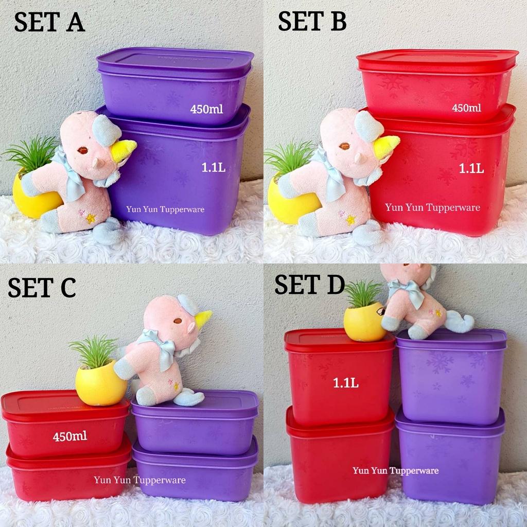 Tupperware Chill Freez / Freezermate Set - 170ml / 450ml / 1.1L - Purple or Red