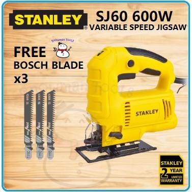 SMALL JIGSAW SMALL SAW STANLEY BRAND SJ60 600W 75MM Stanley Jigsaw FREE BLADE JIGSAW STANLEY JIG SAW CUTTER STANLEY