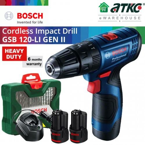 BOSCH GSB 120-LI (Gen 2) Cordless Impact Drill/Driver Professional 12V 2.0Ah (06019G81L0)