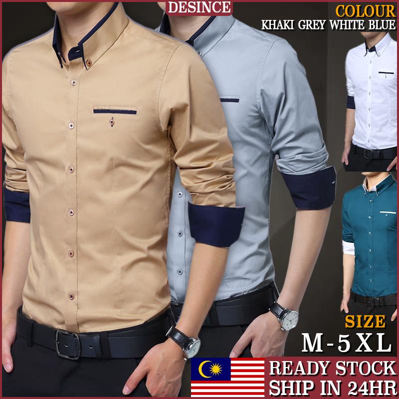 🇲🇾READY STOCK🤵Men Business Shirt Office Formal Smart Long Sleeve Men Clothing Kemeja Suit MT 168