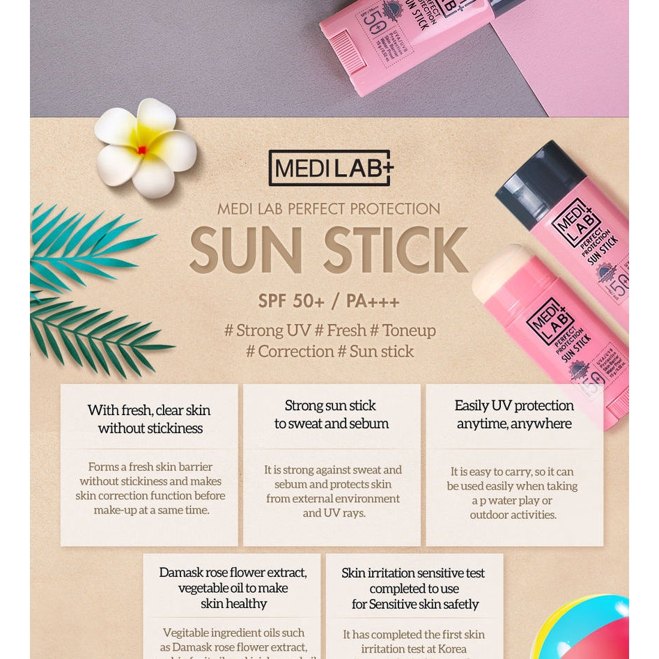 Daycell Medilab Perfect Protection Sun Stick 15g SPF50 PA+++