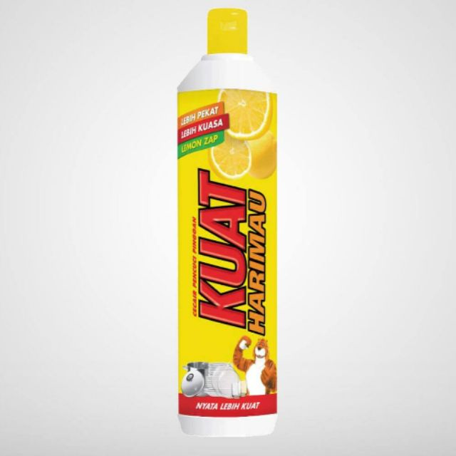 Kuat harimau lemon zap dishwashing liquid 900ml