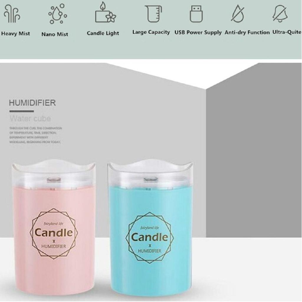 300ml USB Candle Air Humidifier Light Mist Maker Purifier Car Diffuser