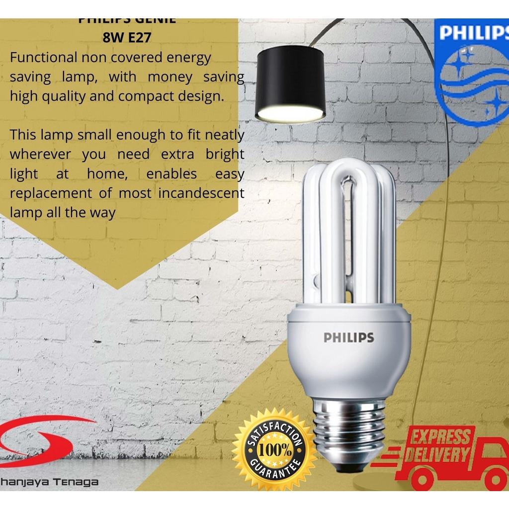 Philips Genie Light Bulb 8w  14w WW CDL  e14 & E27 220-240V