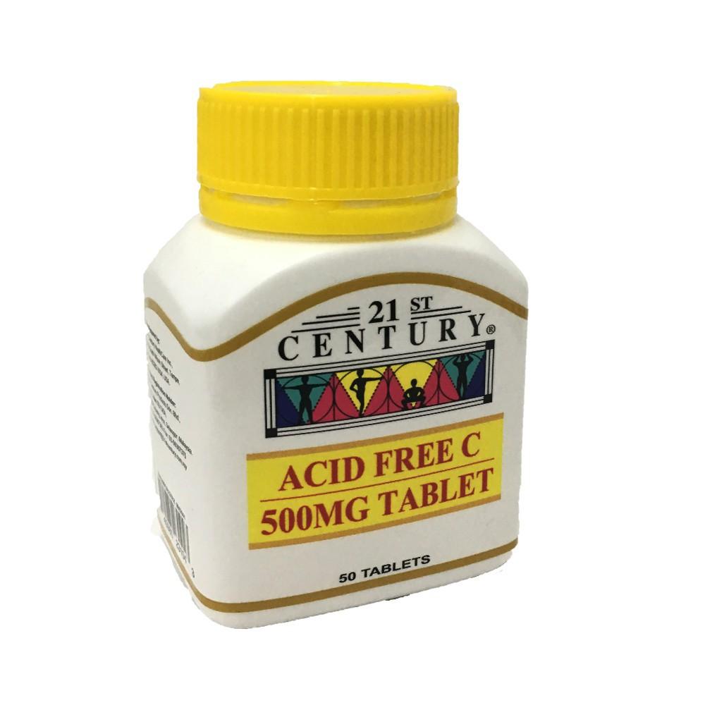 21st century acid free c 500mg 50's (10/22)