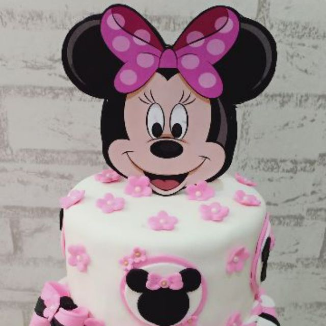 Fabulous Edible Minnie Mouse Head Cake Topper Shopee Malaysia Funny Birthday Cards Online Elaedamsfinfo