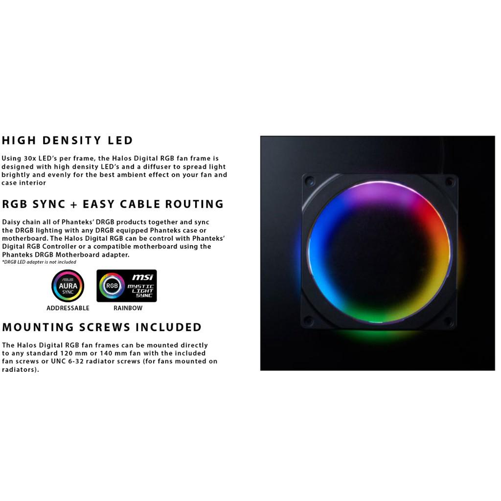 # PHANTEKS HALOS DIGITAL RGB [120mm/ 140mm] FAN FRAMES #
