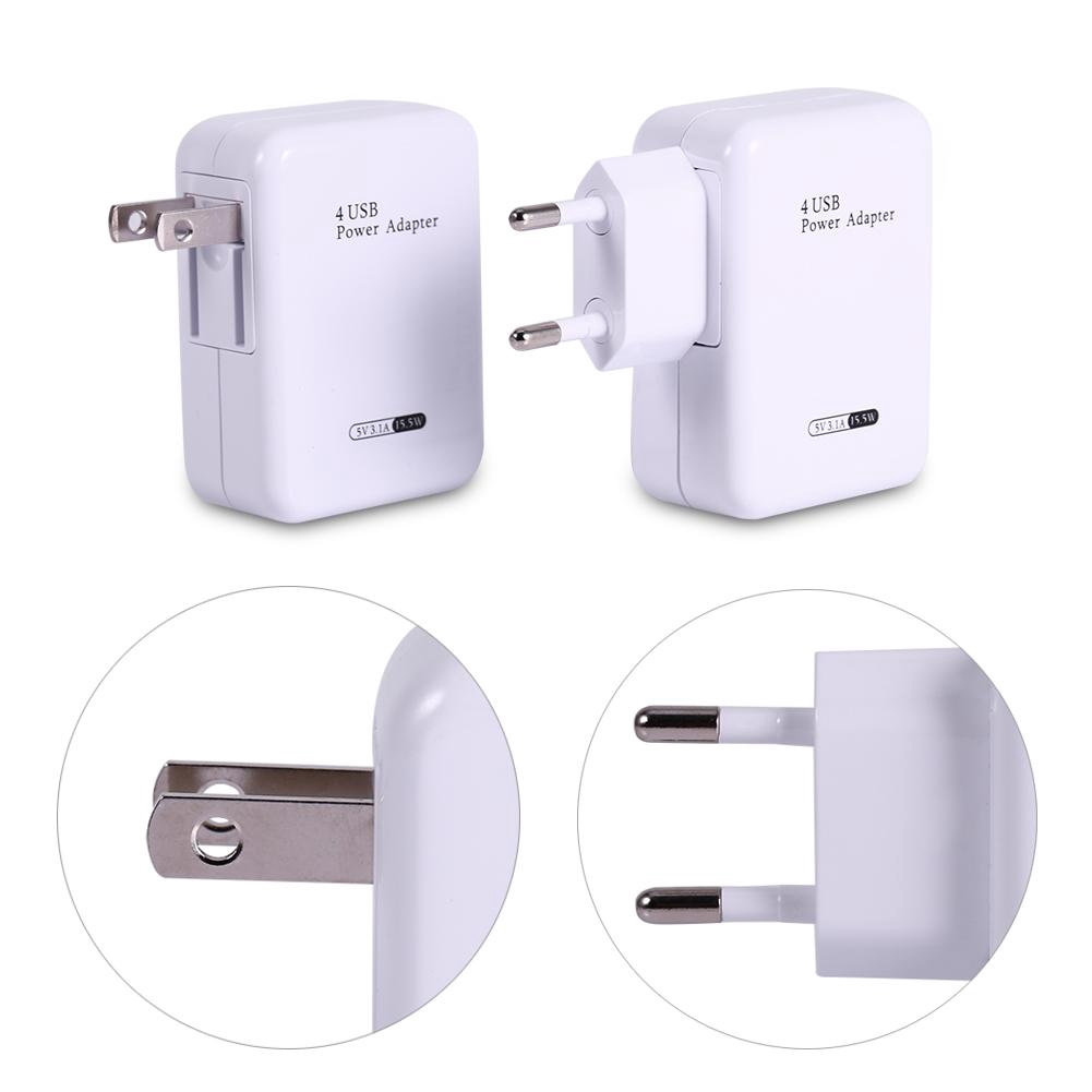 4 Charging Port Multiple USB Plug Expander Adapter Concentrator Home Acces