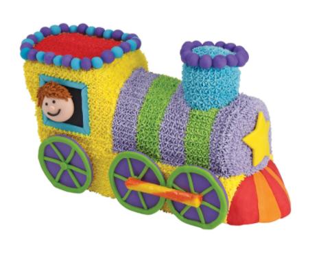 "Cake Pan Set - 3 D Choo-Choo Train, Alu, 10"" x 4"" x 6""(H), Set/2"